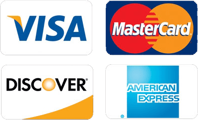 image of credit cards accepted.