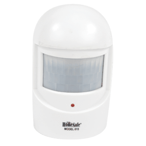 Motion detector image front view white background